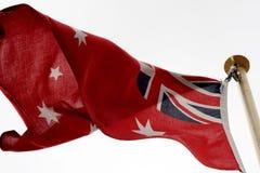 Bandera roja australiana Foto de archivo libre de regalías