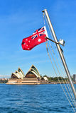 Bandera roja australiana Imagenes de archivo