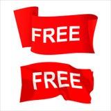 Bandera roja de la venta Libre Illustration