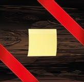 Bandera roja decorativa de las cintas en la esquina diagonalmente con el poli stock de ilustración