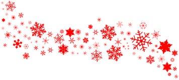 Bandera roja del copo de nieve de la Navidad libre illustration