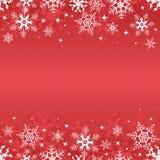 Bandera roja del invierno Imágenes de archivo libres de regalías