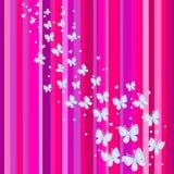 Bandera rosada. Ilustración del vector Imagen de archivo libre de regalías