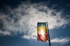 Bandera rumana fotos de archivo