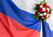 Bandera rusa Foto de archivo libre de regalías