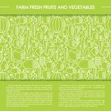 Bandera sana del vector de la comida Imagenes de archivo