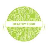 Bandera sana del vector de la comida Fotos de archivo