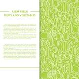 Bandera sana del vector de la comida Imagen de archivo libre de regalías
