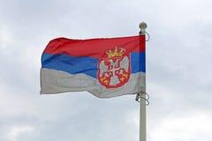 Bandera servia Imagen de archivo
