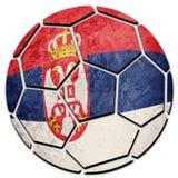 Bandera servia nacional del balón de fútbol Bola del fútbol de Serbia Fotos de archivo