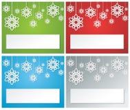Bandera set2 de la Navidad Imagen de archivo