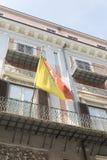 Bandera siciliana en Palermo, Sicilia Imagen de archivo