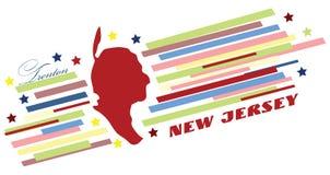 Bandera simbólica de New Jersey ilustración del vector