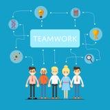 Bandera social de la red y del trabajo en equipo Fotografía de archivo