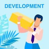 Bandera social del vector del desarrollo de programas medios stock de ilustración