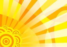 Bandera solar anaranjada del verano Ilustración del Vector