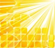 Bandera solar - tarjeta anaranjada Libre Illustration