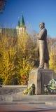 Bandera statue. Monument of Stepan Bandera in Lviv, Ukraine Stock Image