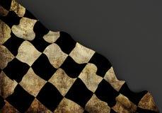 Bandera sucia de la esquina de la raza 3d Imagenes de archivo