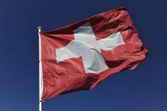 Bandera suiza Imagen de archivo libre de regalías