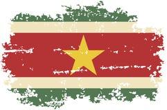 Bandera surinamesa del grunge Ilustración del vector Fotos de archivo libres de regalías