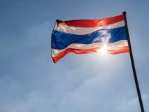 Bandera tailandesa Fotos de archivo libres de regalías