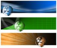 Bandera tecnológica tres Foto de archivo