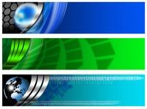 Bandera tecnológica tres azul y verde