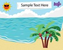 Bandera tropical de la playa fotos de archivo libres de regalías
