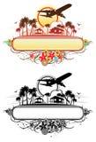Bandera tropical del Aire-jet stock de ilustración
