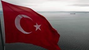 Bandera turca almacen de video
