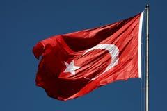 Bandera turca Fotografía de archivo libre de regalías