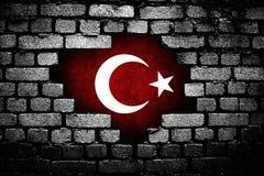 Bandera turca, Turquía, diseño de la bandera Imagen de archivo libre de regalías
