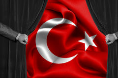 Bandera turca, Turquía, diseño de la bandera Fotografía de archivo
