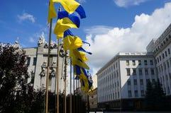 Bandera ucraniana Imagen de archivo libre de regalías