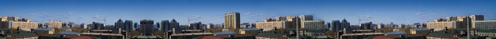 Bandera urbana del paisaje urbano Imagen de archivo libre de regalías