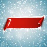 Bandera vacía de la Navidad Fondo del vector Foto de archivo libre de regalías
