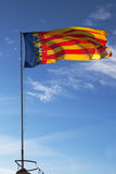 Bandera valenciana Foto de archivo