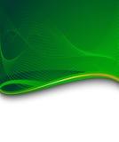 Bandera verde con la onda verde Libre Illustration