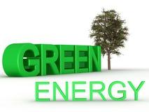 Bandera verde de la energía Imagen de archivo