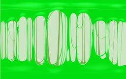 Bandera verde de la plantilla del limo pegajoso con el espacio de la copia Ejemplo sensorial del vector del juguete de los niños  ilustración del vector