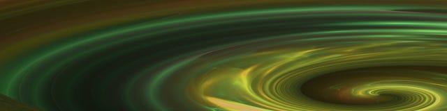 Bandera verde del océano Foto de archivo