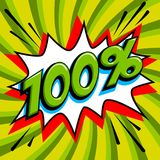 Bandera verde del web de la venta Venta estupenda El ciento por ciento 100 de la venta en verde Ilustración del Vector