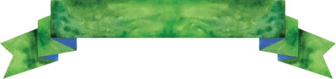 Bandera verde oscuro de la acuarela Ilustración del vector Stock de ilustración