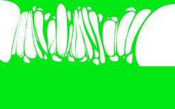 Bandera verde pegajosa del limo, saliva, mocos Capítulo del zombi asustadizo, limo extranjero Objeto aislado limo plano de la his ilustración del vector