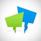 Bandera verde y azul de la formación Imagen de archivo