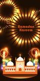 Bandera vertical RGB de Ramadan Kareem India Delhi Fotos de archivo libres de regalías