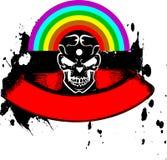 Bandera vibrante del cráneo del arco iris del color. Imagenes de archivo