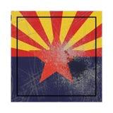 Bandera vieja del estado de Arizona ilustración del vector