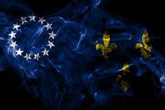 Bandera vieja del humo de la ciudad de Louisville, estado de Kentucky, los Estados Unidos de Am?rica ilustración del vector